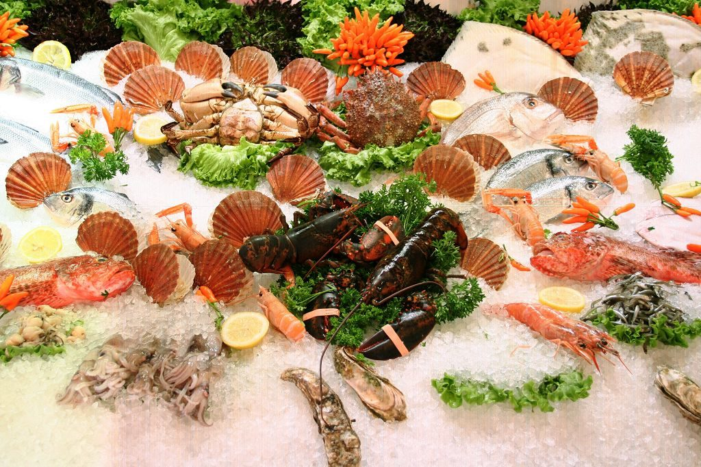 Geschmackvolle Meeresfrüchte